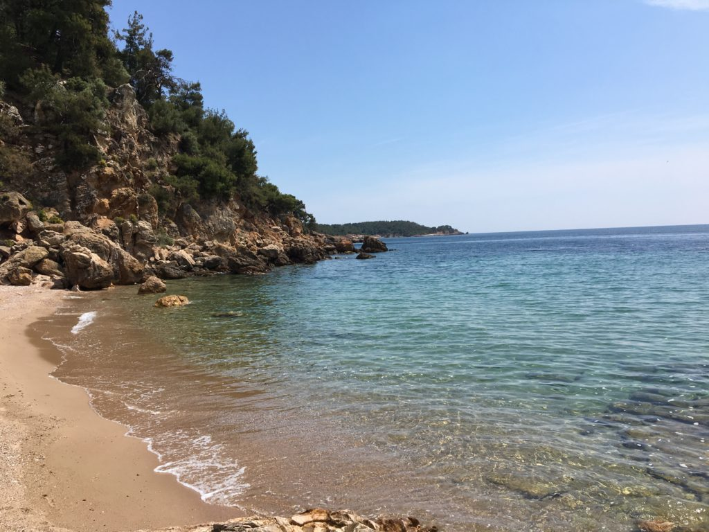 Secluded beach in Astris