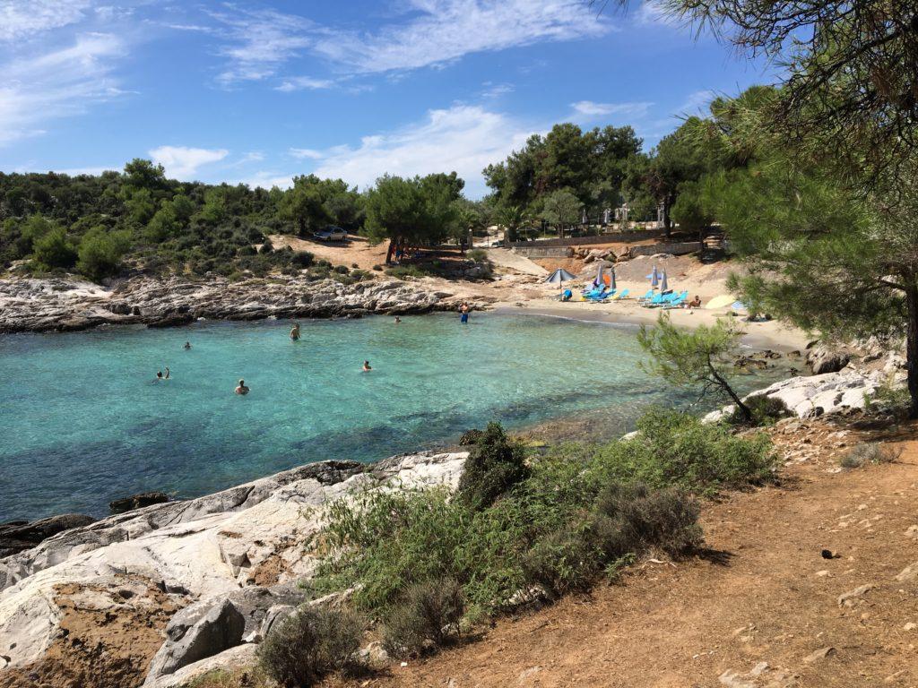 Quiet beaches in Thassos