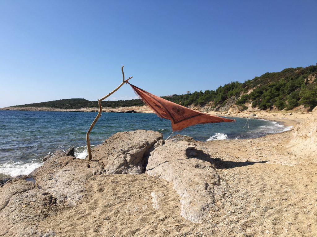 Quiet beaches in Thassos