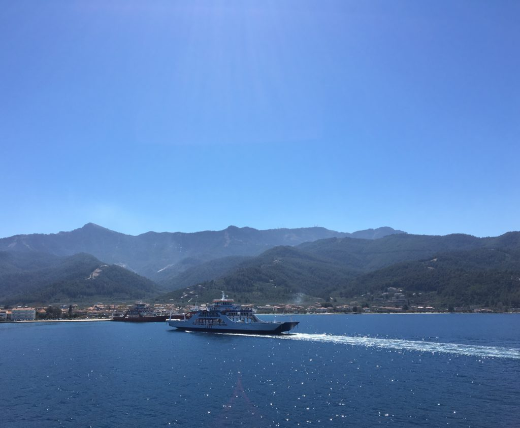 by ferry to Thassos