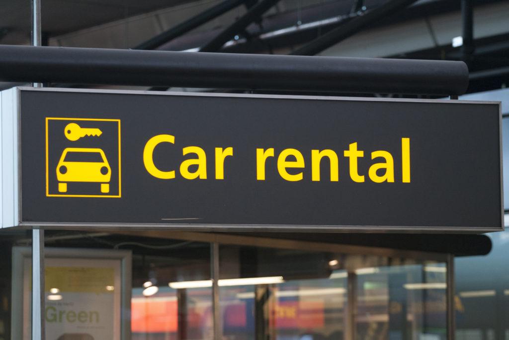 rent a car desk